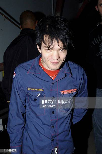 Deryck Whibley of Sum 41 during Spike TV's 2nd Annual Video Game Awards 2004 Backstage at Barker Hangar in Santa Monica California United States
