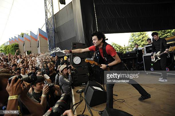 Deryck Whibley of Sum 41 performs as part of the Vans Warped Tour 2010 at Shoreline Amphitheatre on June 26 2010 in Mountain View California