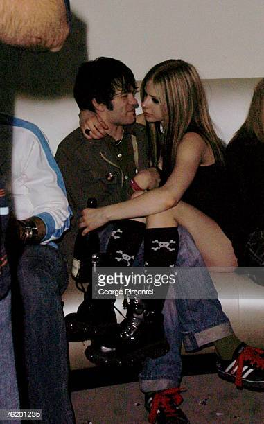 Deryck Wilbley of Sum 41 and Avril Lavigne