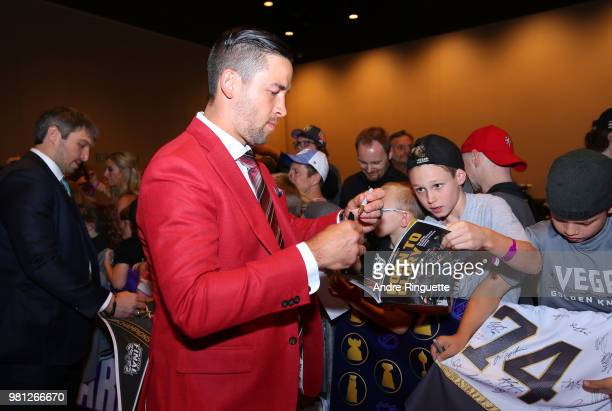 Deryk Engelland of the Vegas Golden Knights arrives at the 2018 NHL Awards presented by Hulu at the Hard Rock Hotel Casino on June 20 2018 in Las...