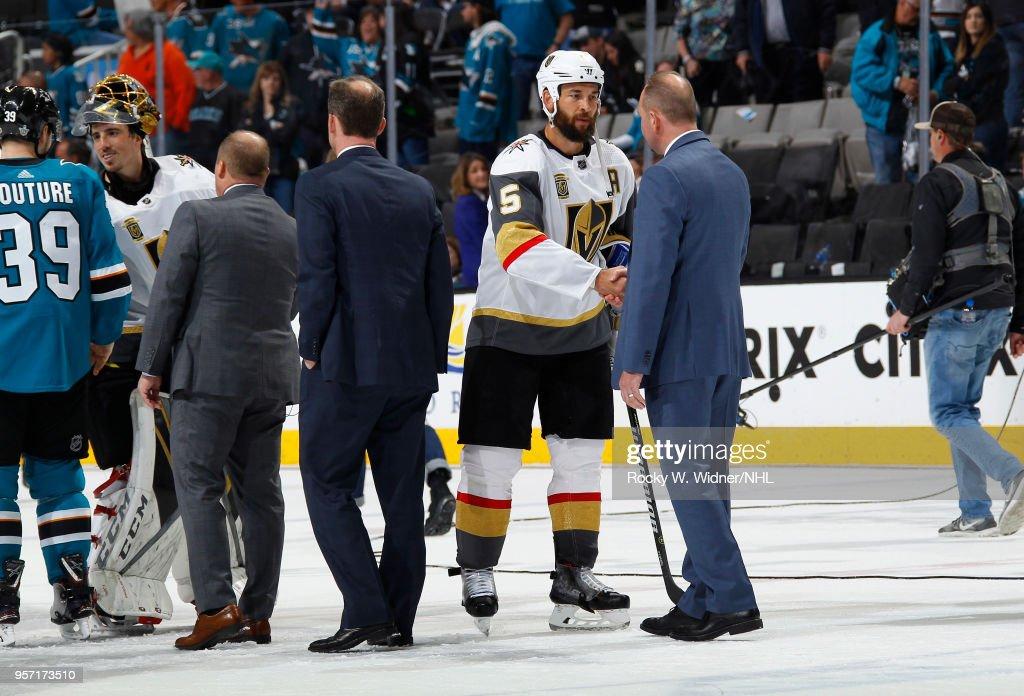 Vegas Golden Knights v San Jose Sharks - Game Six : News Photo