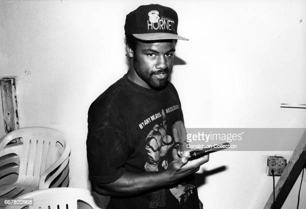 Deryl with the Curl inside his Hand Car Was and Automotive Repair shop at 1454 Florence Ave which he guarded with a gun during the Rodney King Riots...