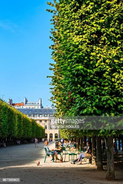 Des gens se reposant dans le Jardin du Palais Royal 14 septembre 2016 à Paris France