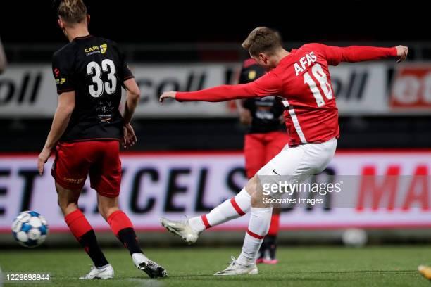 Des Kunst of AZ Alkmaar U23 scores 3-1 during the Dutch Keuken Kampioen Divisie match between Excelsior v AZ Alkmaar U23 at the Van Donge & De Roo...