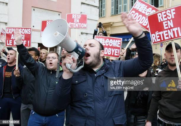 """Des membres du groupe identitaire niçois """"Nissa Rebella"""" perturbent le rassemblement le 08 avril 2009 pour demander la suppression du """"délit de..."""