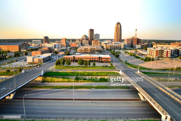 Des Moines City Skyline - Sunrise