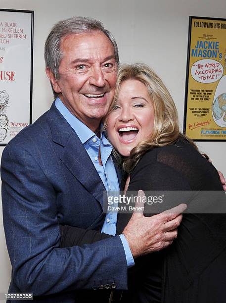 Des O'Connor and wife Jodie Brooke Wilson attend a party celebrating the addition of veteran entertainer Des O'Connor to the cast of the West End...