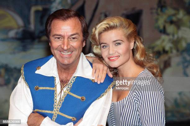 Des O'Connor as Buttons and Jodie Wilson as Cinderella appearing in Cinderella at the New Victoria Theatre 15th December 1992
