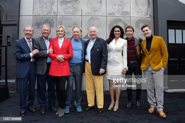 Des O'Connor Tommy Steele Lady Madeleine Lloyd Webber Lord Andrew Lloyd Webber Jimmy Tarbuck Wilnelia Merced Sir Cliff Richard and Lee Simmons attend...