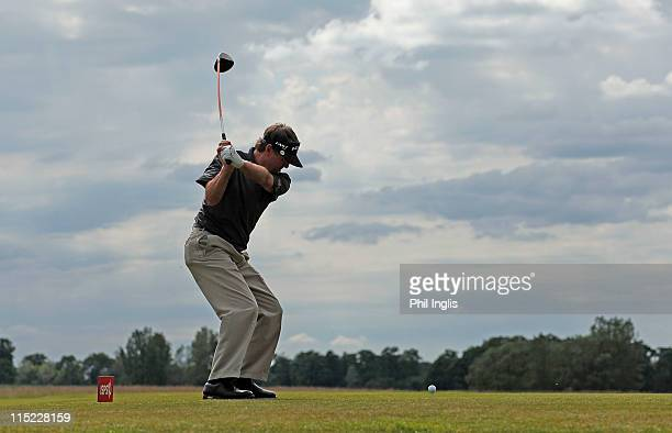 Des Smyth of Ireland in action during the second round of the Handa Senior Masters presented by the Stapleford Forum played at Stapleford Park on...