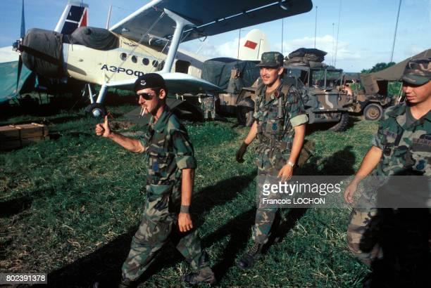 Des US Rangers lors de l'invasion de l'île de Grenade par la coalition américaine en novembre 1983 à Grenade