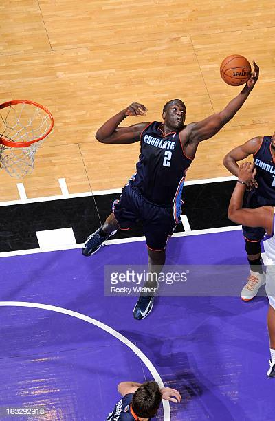 DeSagana Diop of the Charlotte Bobcats rebounds against the Sacramento Kings on March 3 2013 at Sleep Train Arena in Sacramento California NOTE TO...