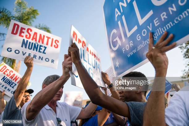 Desantis and Gillum supporters come head to head outside the Broward County Supervisor of Elections office when the news broke that there would be a...