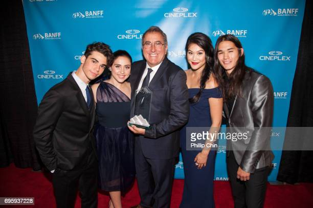 'Descedants 2' Executive Producer Ken Ortega receives the Award of Excellence from his cast Cameron Boyce Brenna D'Amico Dianne Doan and Booboo...