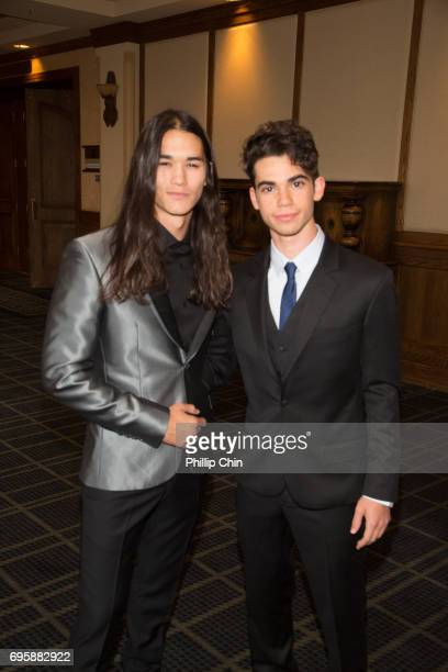 'Descendants 2' Actors Booboo Stewart and Cameron Boyce arrive at the Rockie Awards Gala Cermemony during the 2017 Banff Media Festival at the...
