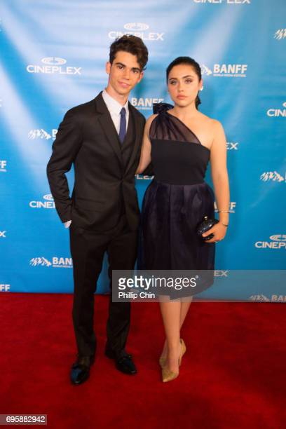 'Descendants 2' Actors Cameron Boyce and Brenna D'Amico arrive at the Red Carpet for the Rockie Awards Gala Cermemony during the 2017 Banff Media...