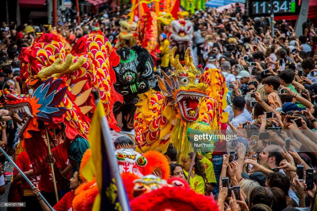 Sao Paulo celebrated the Chinese New Year