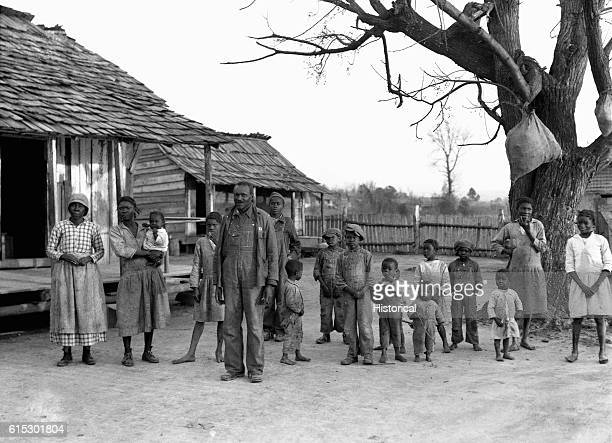 Descendants of former slaves living on the Pettway Plantation the same land as their ancestors Gee's Bend Alabama February 1937