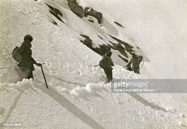 Descending from Carpori at the head of Kama Valley Tibet 7890 Mount Everest Expedition 1921