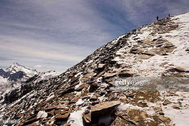 Descending from Chacaltaya mountain