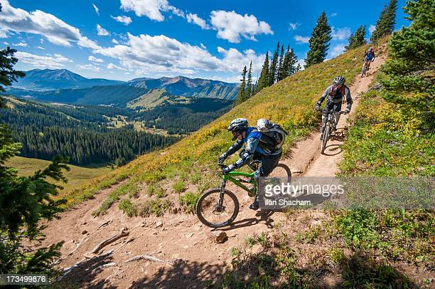 descending into the view - aspen colorado stock photos and pictures