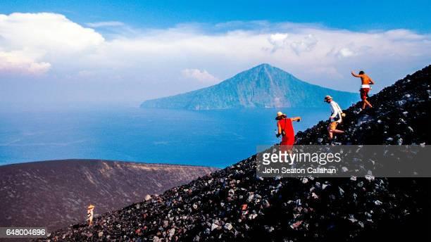 Descending Krakatoa Volcano