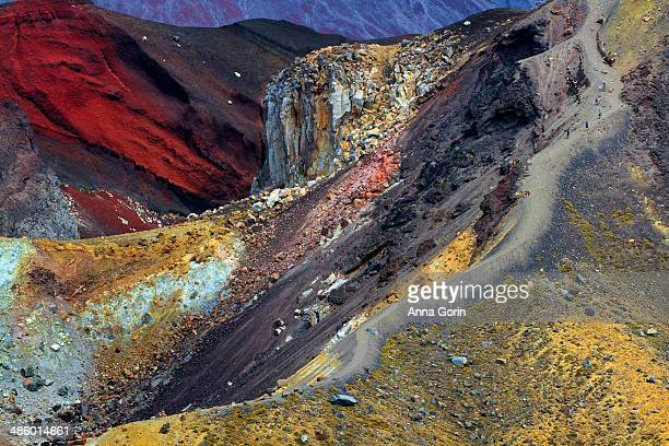 Descent from Red Crater on Tongariro Crossing