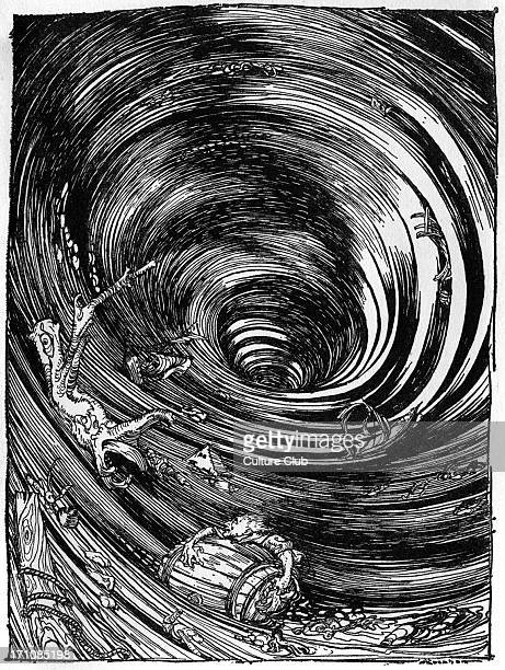 'A Descent into the Maelstrom' by Edgar Allan Poe Illustration by Arthur Rackham EAP American author poet 19 January 1809 7 October 1849