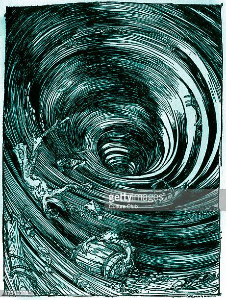 A Descent into the Maelstrom' by Edgar Allan Poe Illustration by Arthur Rackham EAP American author poet 19 January 1809 7 October 1849 Tinted version
