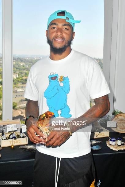 LOS DeSean Jackson attends Hemp Hyrdate and GBK Pre ESPY Lounge on July 17 2018 in Los Angeles California