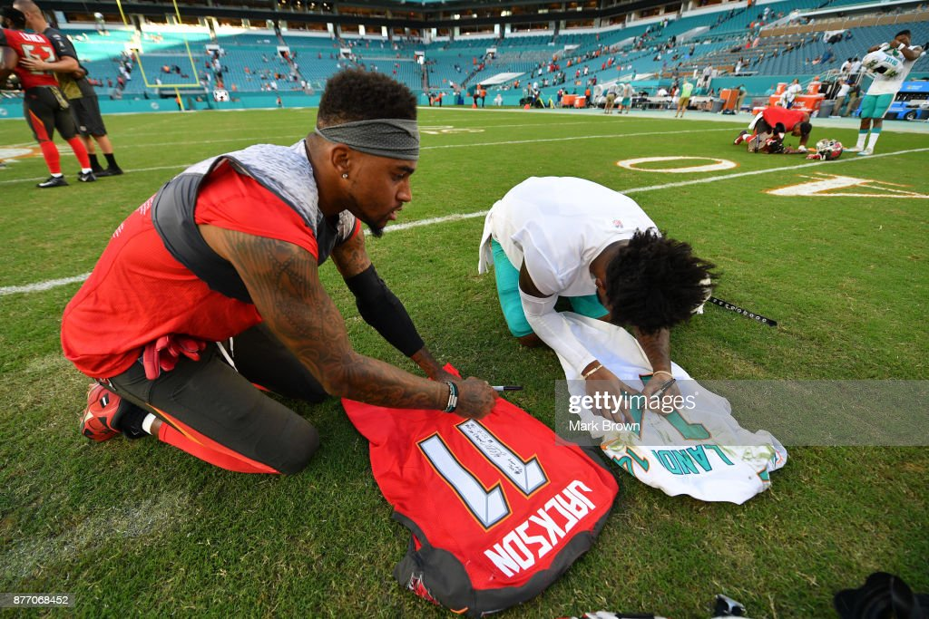 Desean Jackson Of The Tampa Bay Buccaneers And Jarvis Landry Of The News Photo Getty Images