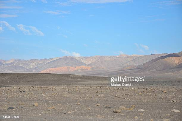 "desert and andes mountains near chauchilla, nazca - ""markus daniel"" stock pictures, royalty-free photos & images"