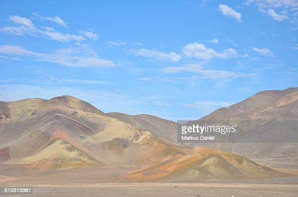 Desert and Andes Mountains near Chauchilla, Nazca,
