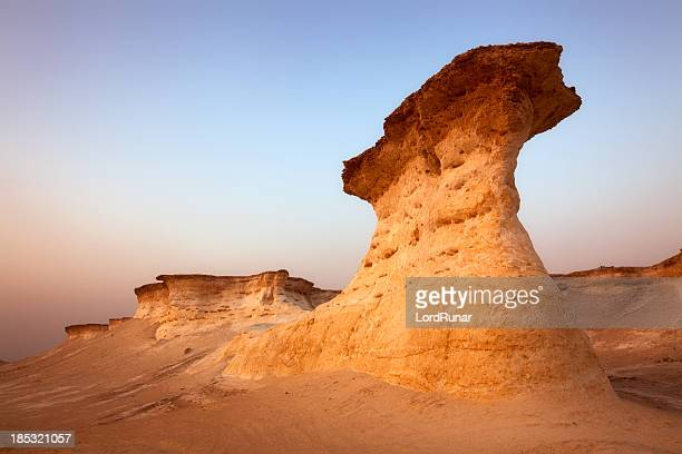 desert and limestone - qatar stock pictures, royalty-free photos & images