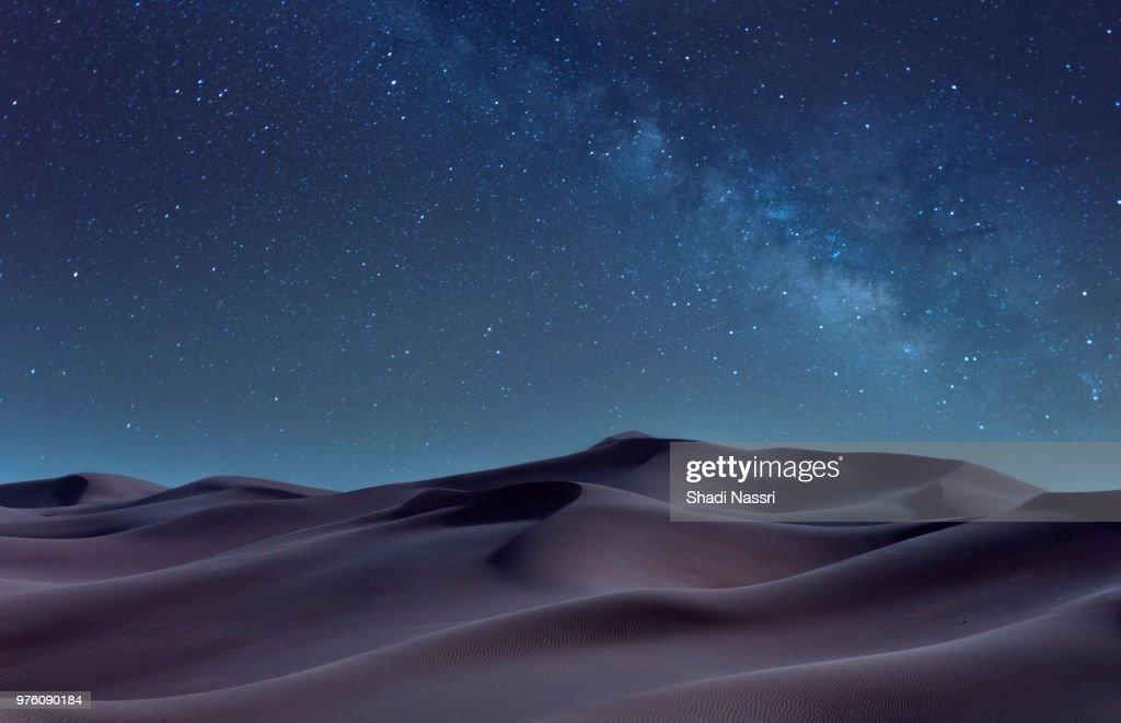 Desert at night, Sharjah, United Arab Emirates : Foto de stock