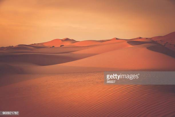desert dunes at wahiba sands in oman - desert stock pictures, royalty-free photos & images