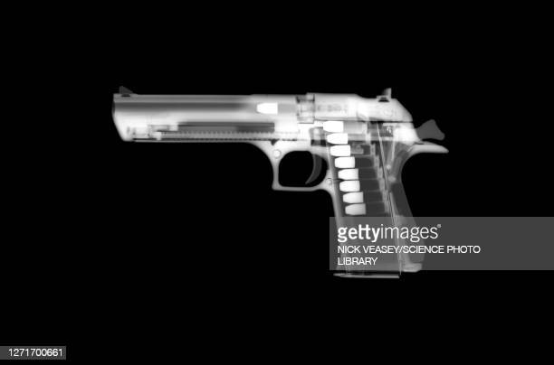 desert eagle handgun, x-ray - radiogram photographic image stock pictures, royalty-free photos & images