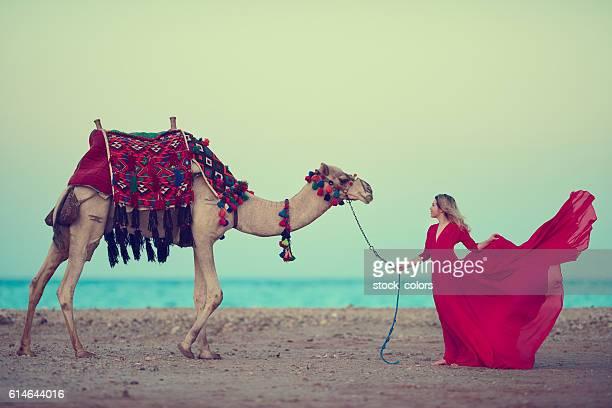 desert feelings - hot arab women stock photos and pictures