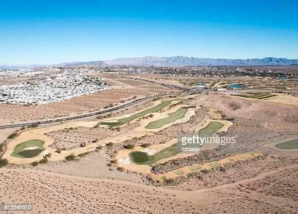desert golf - boulder city stock photos and pictures