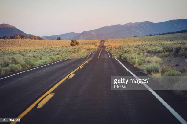 desert highway - prairie stock photos and pictures