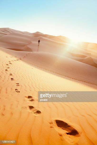 Desert Hiker Rub' al Khali of Abu Dhabi, UAE