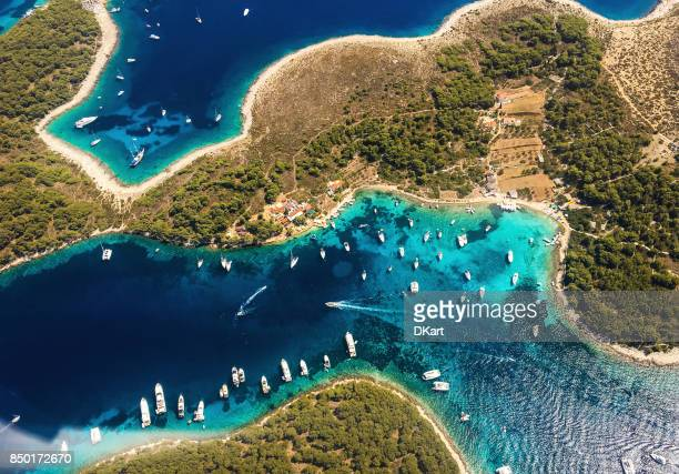 desert island - croatia stock pictures, royalty-free photos & images
