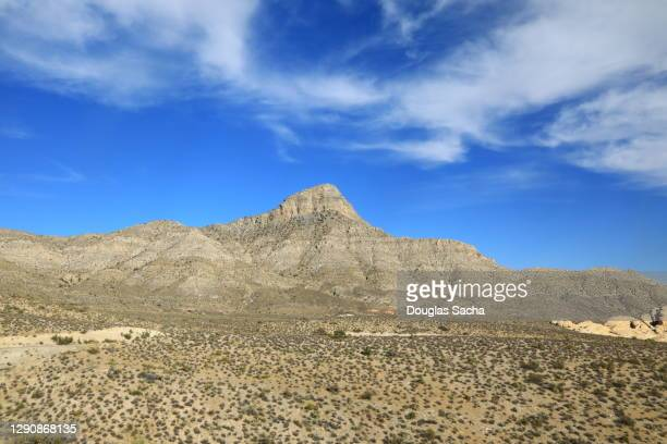 desert landscape at mojave national preserve - chihuahua desert stock pictures, royalty-free photos & images
