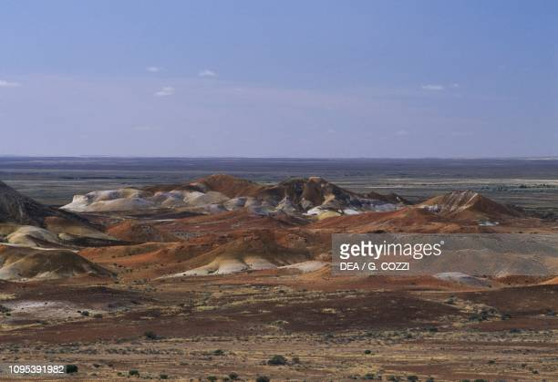 Desert landscape in the surroundings of Coober Pedy KankuBreakaways Conservation Park South Australia Australia