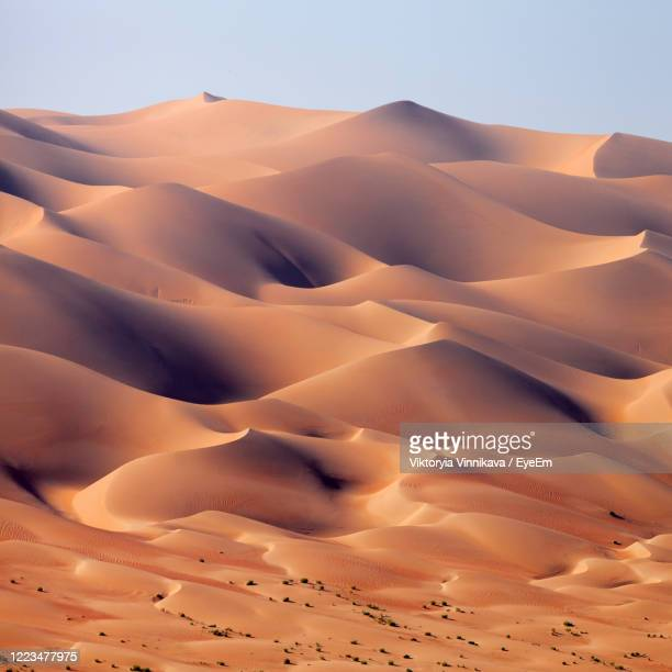 desert landscape in the uae, sand dunes - desert stock pictures, royalty-free photos & images