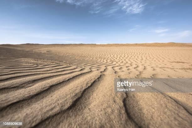 desert landscape under clear sky - 荒野 ストックフォトと画像
