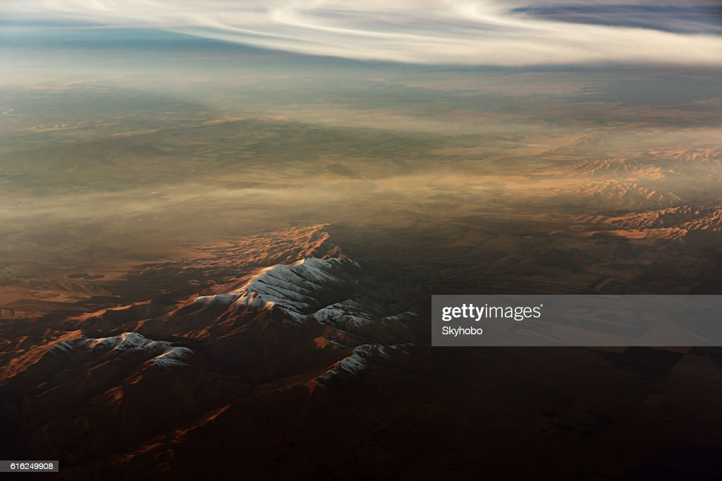 Desert Mountain Aerial View : Stock Photo