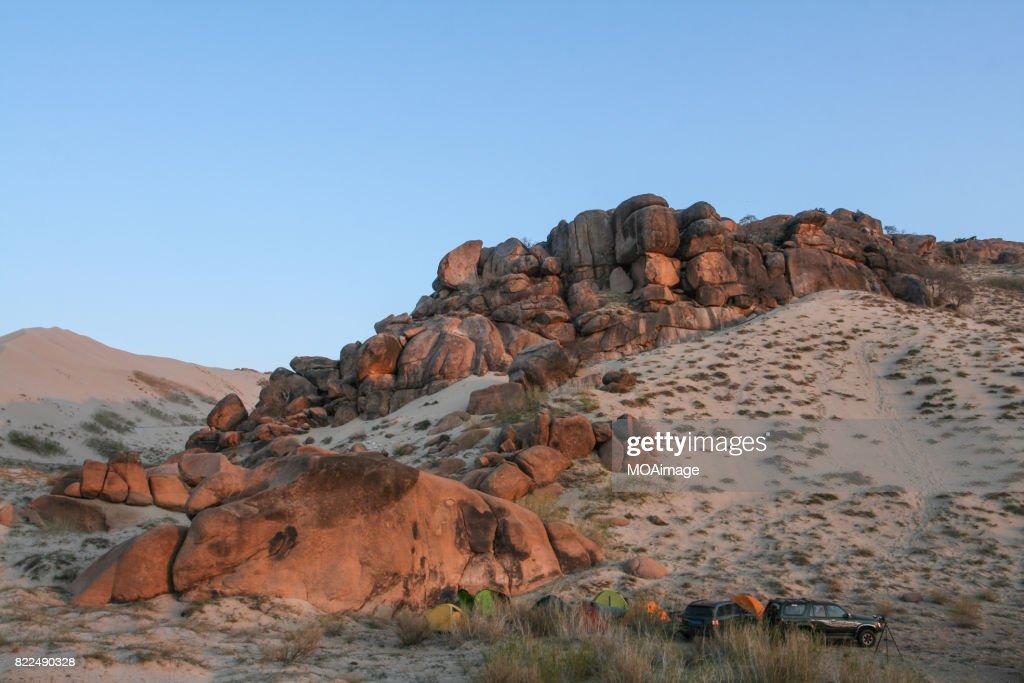 Desert off-road camp : Stock Photo