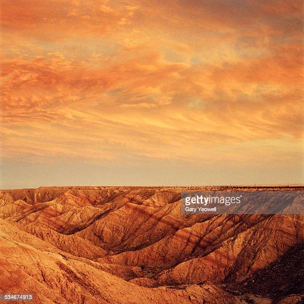 desert overlook to badlands - anza borrego desert state park stock pictures, royalty-free photos & images
