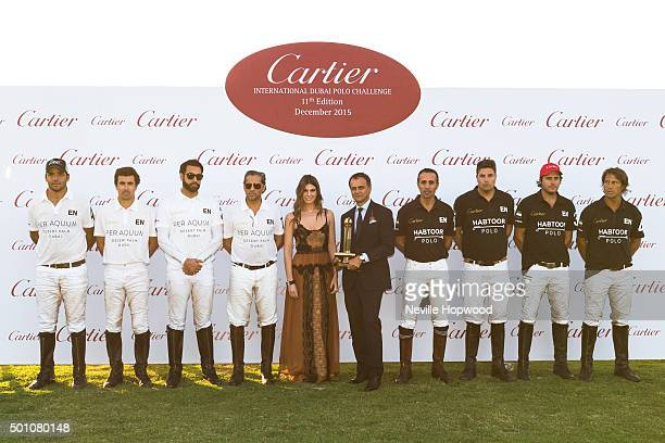 afbf89fc6e3 EMIRATES DECEMBER Desert Palm polo team and Habtoor polo team with Regional  Manager for Cartier Middle